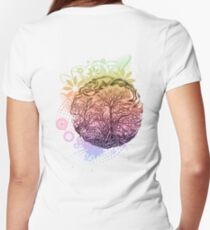 Brunches of trees Women's Fitted V-Neck T-Shirt