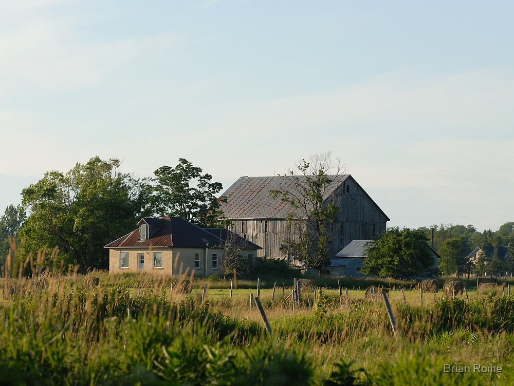 Country farm house and barn by Brian Rome