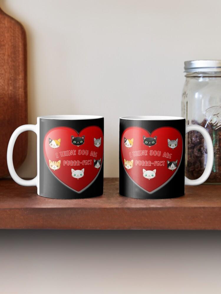 Alternate view of Kitty Cat Valentines Day Cute Kitten Lover Gift. Mug