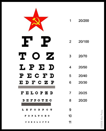 Campaign Memories: Sarah Palin's Eye Chart by Alex Preiss