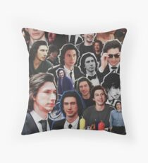 Assorted Adam Driver Collage  Throw Pillow