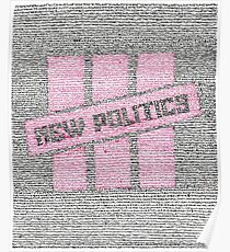New Politics Lyric Art Poster