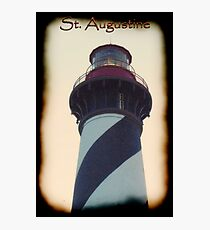 St. Augustine - Lighthouse Caption: May 2011 Photographic Print