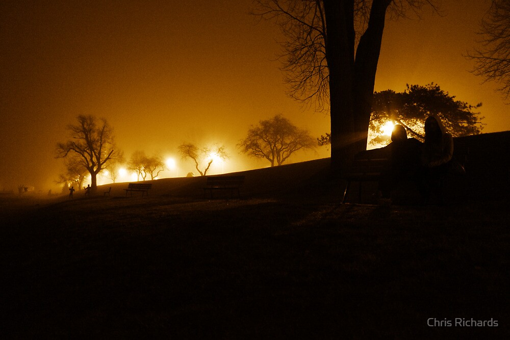 Fog fell along the river by Chris Richards