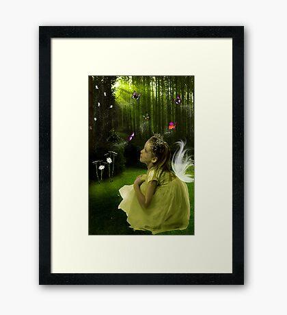 I believe that Angels walk beside us... Framed Print