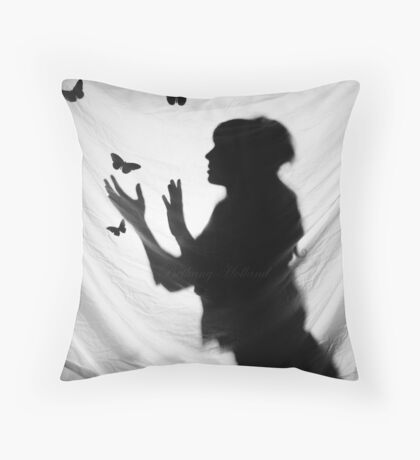 Butterfly Catcher Throw Pillow
