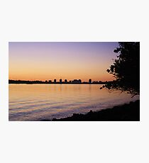 twilight at the river ... Photographic Print