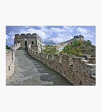 The Great Wall Series - at Mutianyu #1 Photographic Print