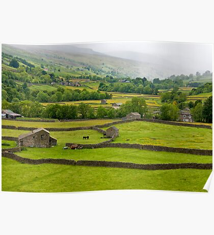 Mist in the Dales Poster