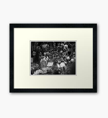 The Chinatown Florist Framed Print