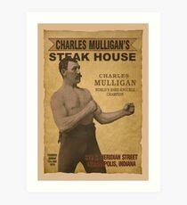 Charles Mulligan's Steak House Art Print