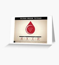 Blood Moon Tetrad Calendar 2014/2015 Greeting Card