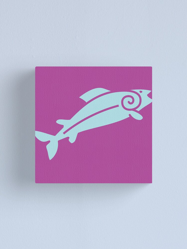 Alternate view of Happy Salmon Jumping Canvas Print