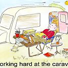 Working hard at the Caravan by Mike HobsoN