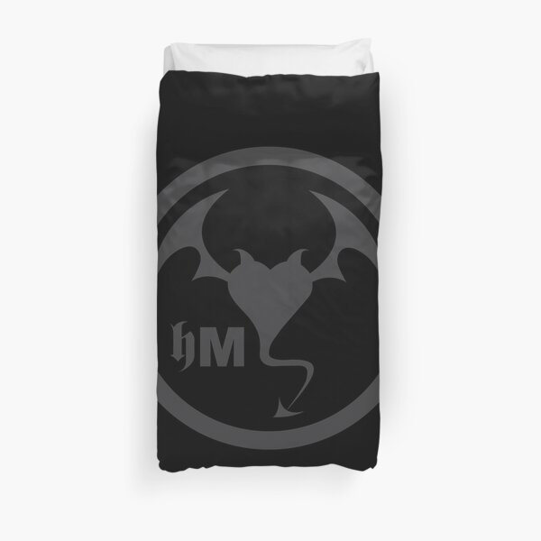 Hollywood Monsters Circle Bat Logo - DARK GREY Duvet Cover