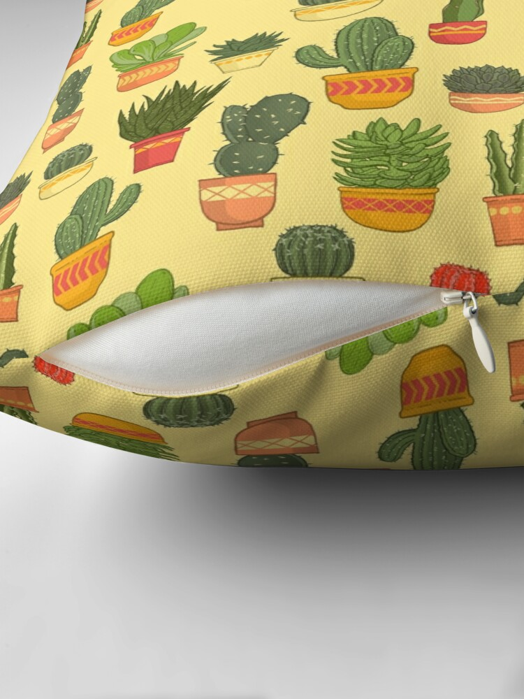 Alternate view of Cactus and Succulent Pattern (Tan) Floor Pillow