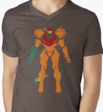 Samus Aran Splattery T Men's V-Neck T-Shirt
