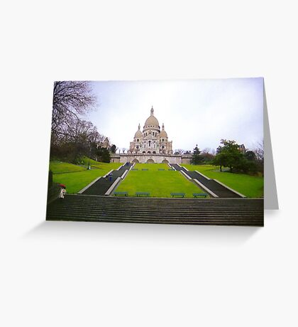 Sacre Coeur Basilica, Paris Greeting Card