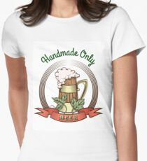 Beer Mug in Vintage Style Womens Fitted T-Shirt