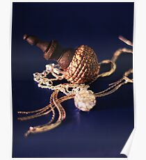 jewellery blue Poster