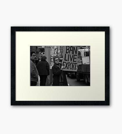 The Demonstration Framed Print