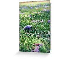 Sending you peace Greeting Card