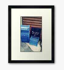 No such thing as free anything! Framed Print