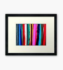 Fabrics Framed Print