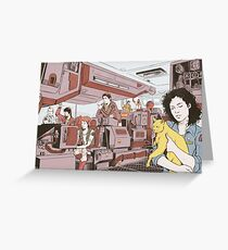 Aboard the Nostromo Greeting Card