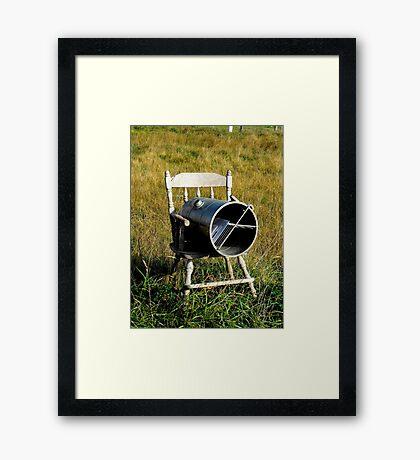 Rocking Chair Mailbox Framed Print