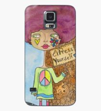 Hippie Lady Expresses Herself Case/Skin for Samsung Galaxy