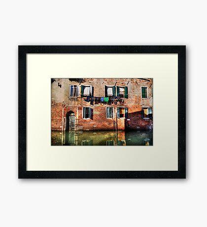 Venice washing #1 Framed Print
