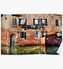 Venice washing #1 Poster