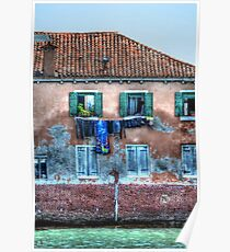 Venice washing #10 Poster