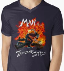 Man of a Thousand STDs Mens V-Neck T-Shirt