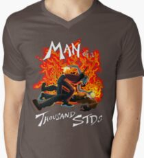 Man of a Thousand STDs Mens V-Neck T-Shirt