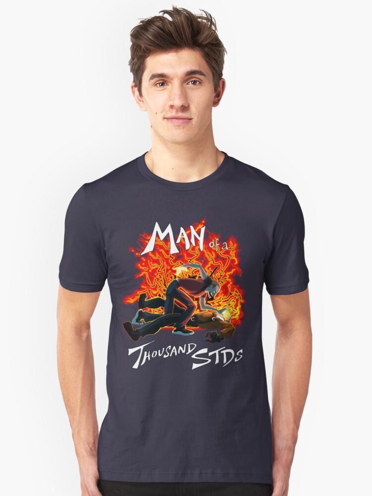 Man of a Thousand STDs Unisex T-Shirt Front