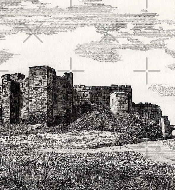 187 - BAMBURGH CASTLE - DAVE EDWARDS - INK - 1991 by BLYTHART