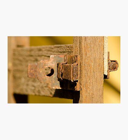 Old Door Lock! Photographic Print