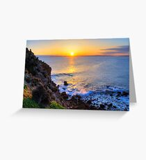 Sunset - The Pinnacles, Cape Woolamai, Phillip Island Greeting Card