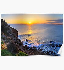 Sunset - The Pinnacles, Cape Woolamai, Phillip Island Poster