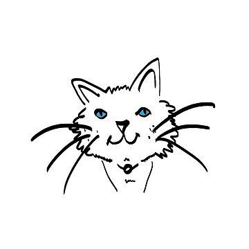Blue-eyed Cat by apech