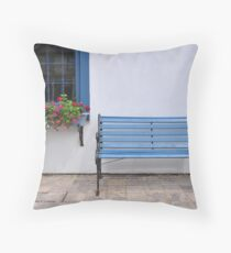 Bench and flowerbox, St. Jacobs Throw Pillow