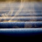 Frost On HDPE Pipe by Chris Paddick