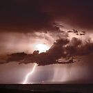 Inlet Lightning by Larry  Grayam
