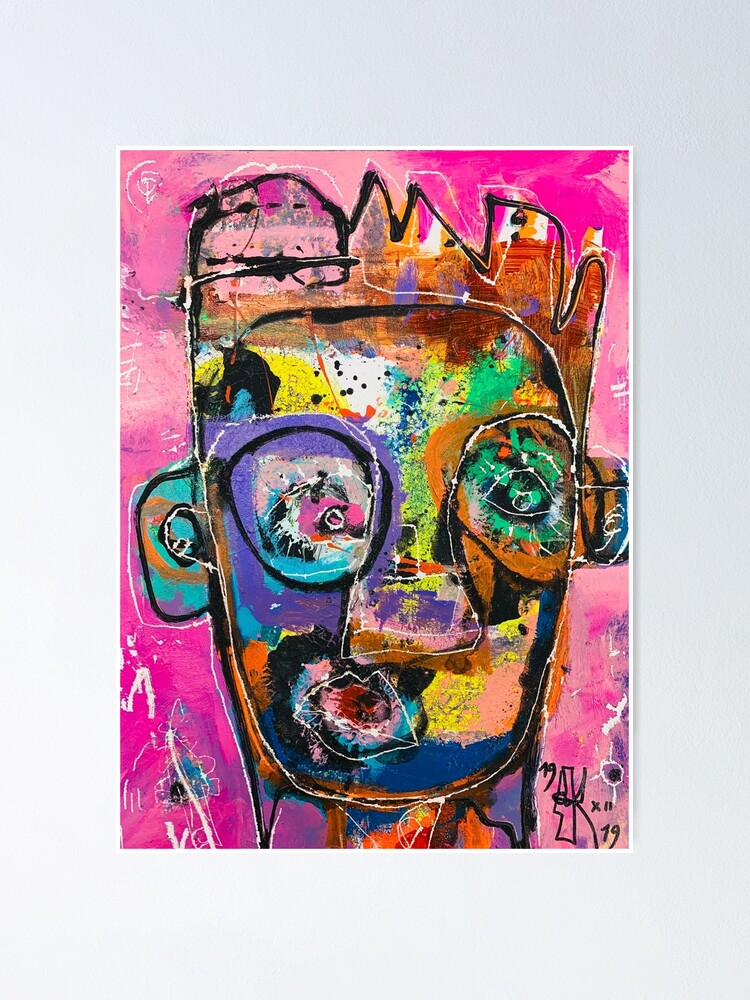 Alternate view of Neoexpressionism, art brut, spontaneous art, black and Colors, free figuration Poster