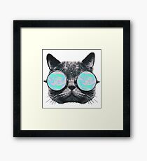 Cat Eye Hologram Framed Print