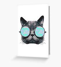Cat Eye Hologram Greeting Card