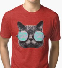 Cat Eye Hologram Tri-blend T-Shirt