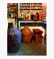 Medicine Bottles and Baskets Photographic Print
